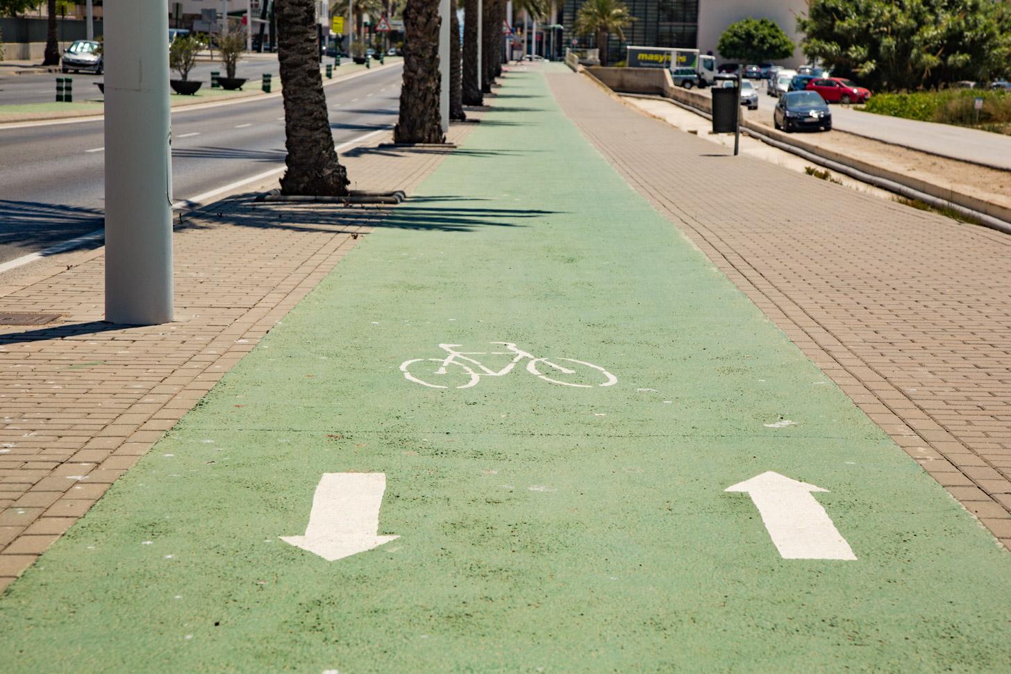 fietspad in Moraira